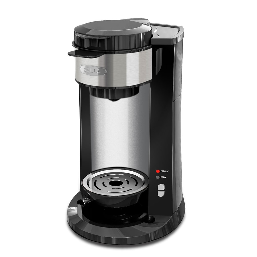 Shop BELLA 3 Brew Sizes Black Single-Serve Coffee Maker at ...