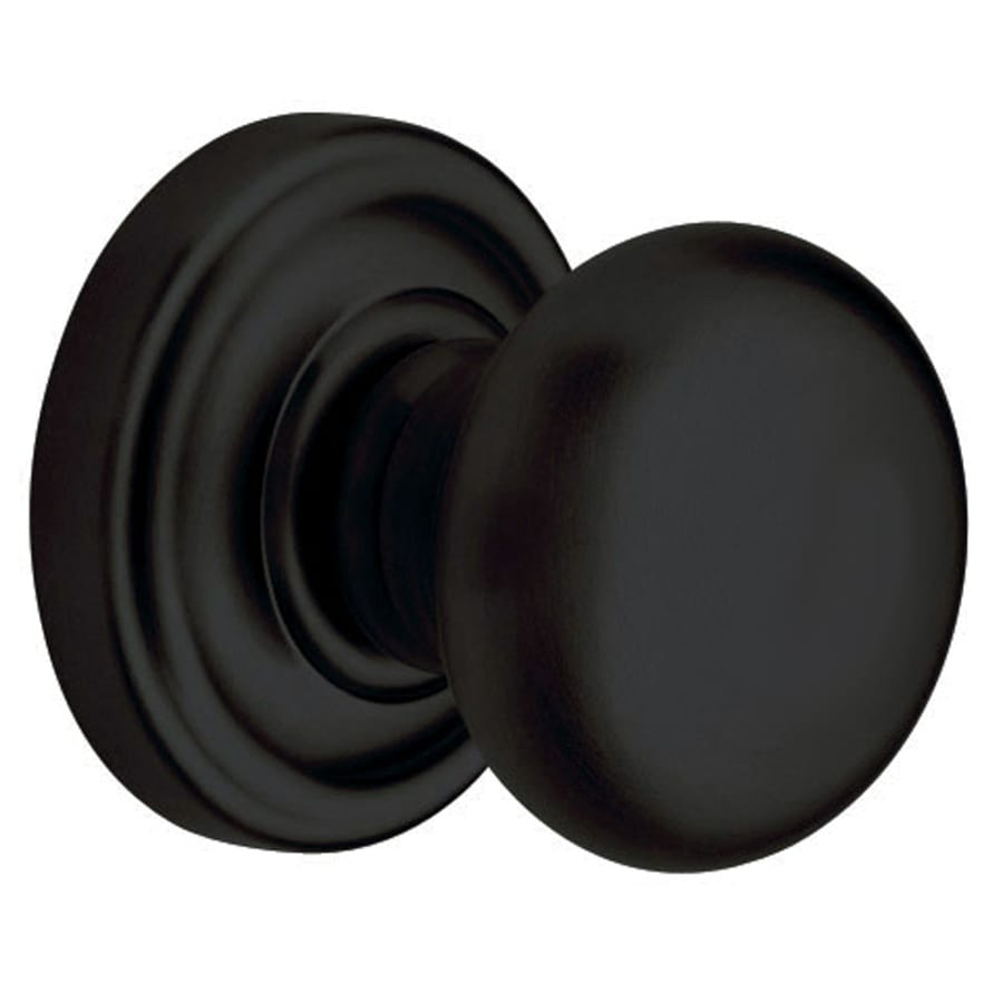 Shop Baldwin Classic Satin Black Dummy Door Knob At Lowes Com