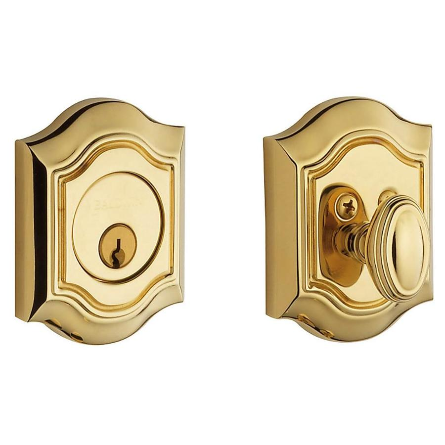BALDWIN Estate Bethpage Lifetime Polished Brass Single-Cylinder Deadbolt