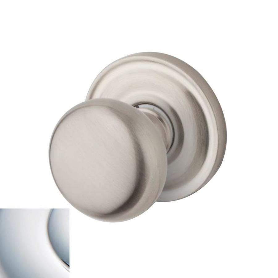 Shop BALDWIN Estate Classic Polished Chrome Round Push ButtonLock