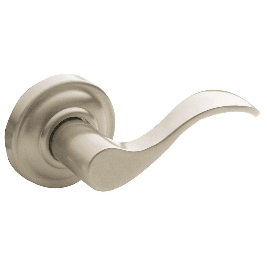 BALDWIN Estate Wave Lifetime Satin Nickel Dummy Door Lever