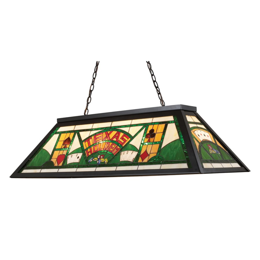 Westmore Lighting 44-in W 4-Light Tiffany Bronze Kitchen Island Light with Tiffany-Style Shade