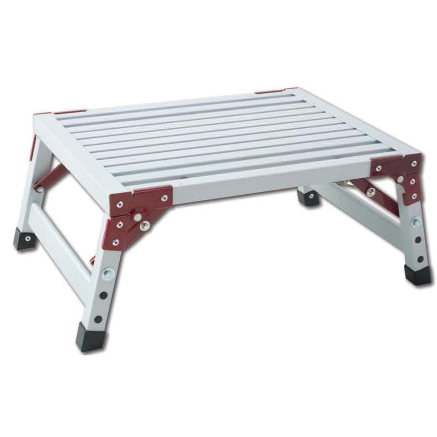 Gpl 1 Step 500 Lbs Capacity White Aluminum Foldable Step
