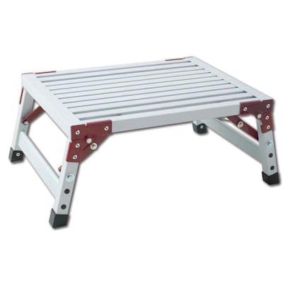 Cool 1 Step 500 Lbs Capacity White Aluminum Foldable Step Stool Ibusinesslaw Wood Chair Design Ideas Ibusinesslaworg