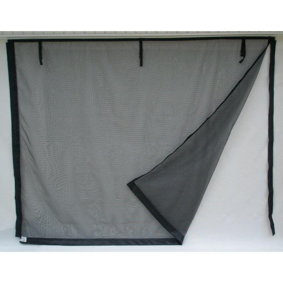 Fresh Air Screens Model C 16-ft x 7-ft Zipper Double Garage Door Screen