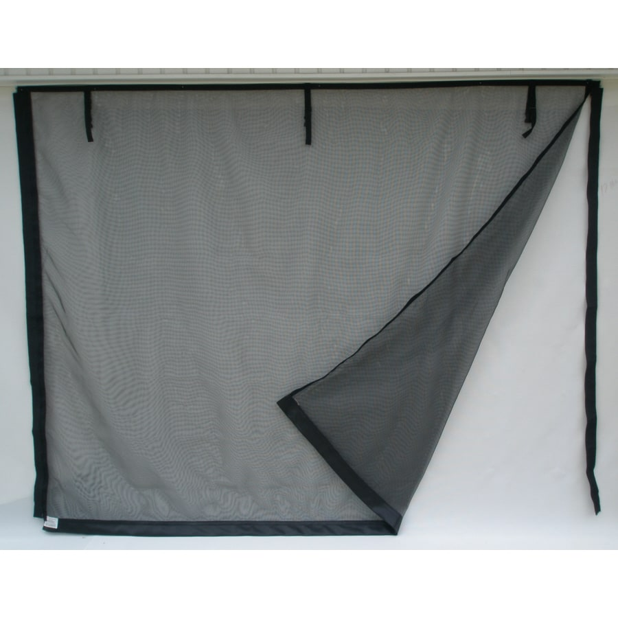 Shop fresh air screens model c 16 ft x 8 ft zipper double for Retractable double garage door screen