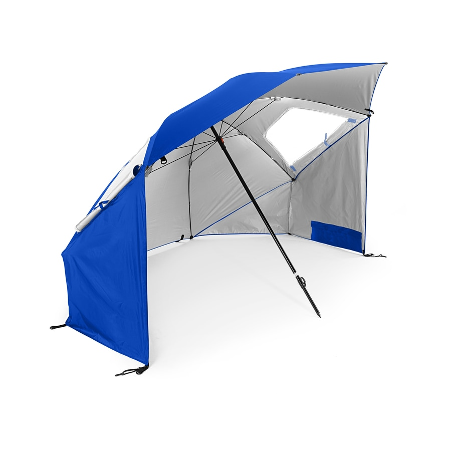 Sport-Brella 54.72-in Blue SuperBrella Automatic Bubble Umbrella