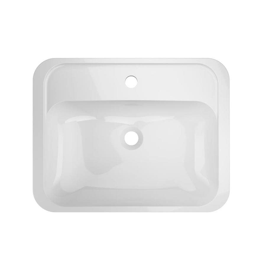 Solid Surface Bathroom Sink: Jacuzzi Solid Surface White Solid Surface Drop-In Or