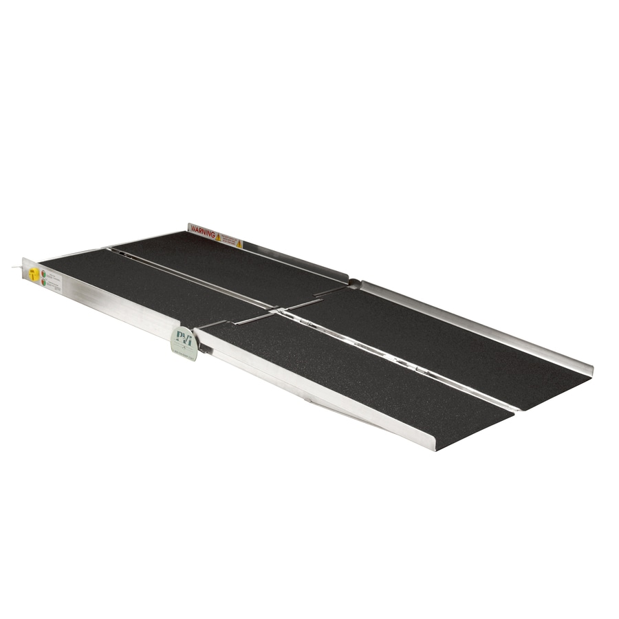 Prairie View Industries 7-ft x 30-in Aluminum Folding Entryway Wheelchair Ramp
