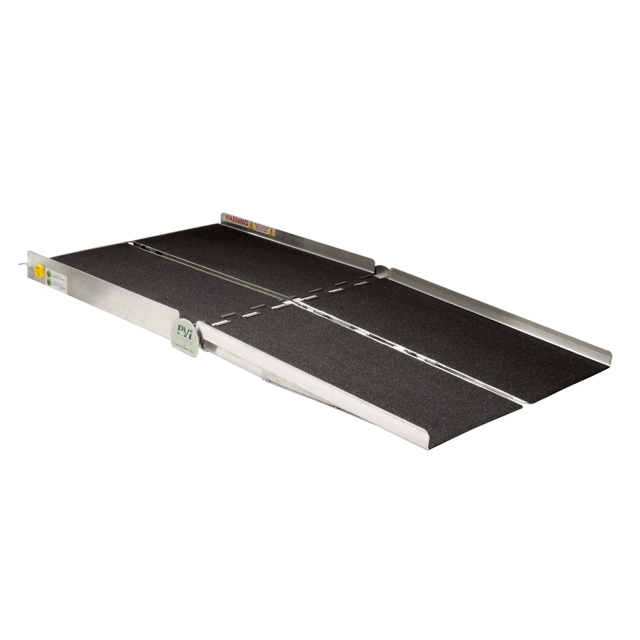 Prairie View Industries 8-ft x 36-in Aluminum Folding Entryway Wheelchair Ramp