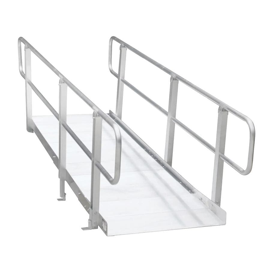 Prairie View Industries 8-ft x 36-in Aluminum Modular Entryway Wheelchair Ramp