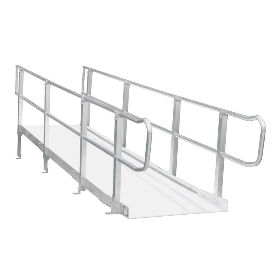 Shop prairie view industries 12 ft x 36 in aluminum for Prefab wheelchair ramp