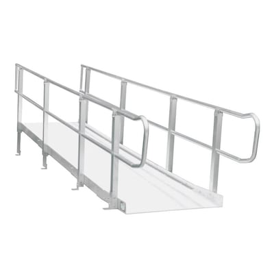 16-ft x 36-in Aluminum Modular Entryway Wheelchair Ramp on ramps for trucks, ramps for swimming pools, ramps for trailers, ramps for barns, ramps for decks, ramps for cars, stairs ramps mobile homes, ramps for landscaping, ramps for outbuildings, ramps for boats, ramps for rvs, ramps for buildings, wheelchair ramps for homes, ramps for garages, ramps for vans, ramps for motorcycles, ramps for warehouses, ramps for heavy equipment, ramps for vehicles, ramps for pets,
