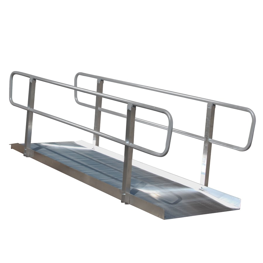 Prairie View Industries 10-ft x 36-in Aluminum Solid Entryway Wheelchair Ramp