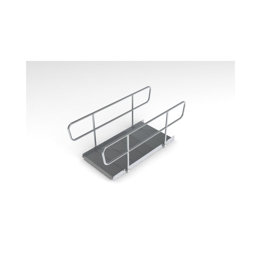 8-ft x 36-in Aluminum Modular Entryway Wheelchair Ramp