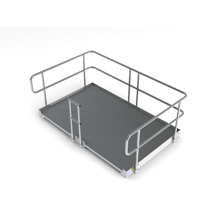 8-ft x 60-in Aluminum Modular Entryway Wheelchair Ramp