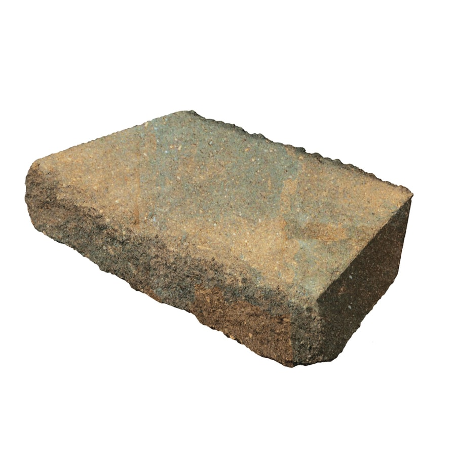 Shop Tan Charcoal Retaining Wall Cap Common 3 In X 16 In