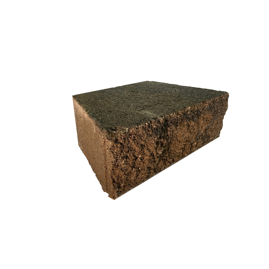 Oldcastle Tan/Charcoal Retaining Wall Block (Common: 9-in x 12-in; Actual: 9.1-in x 11.5-in)