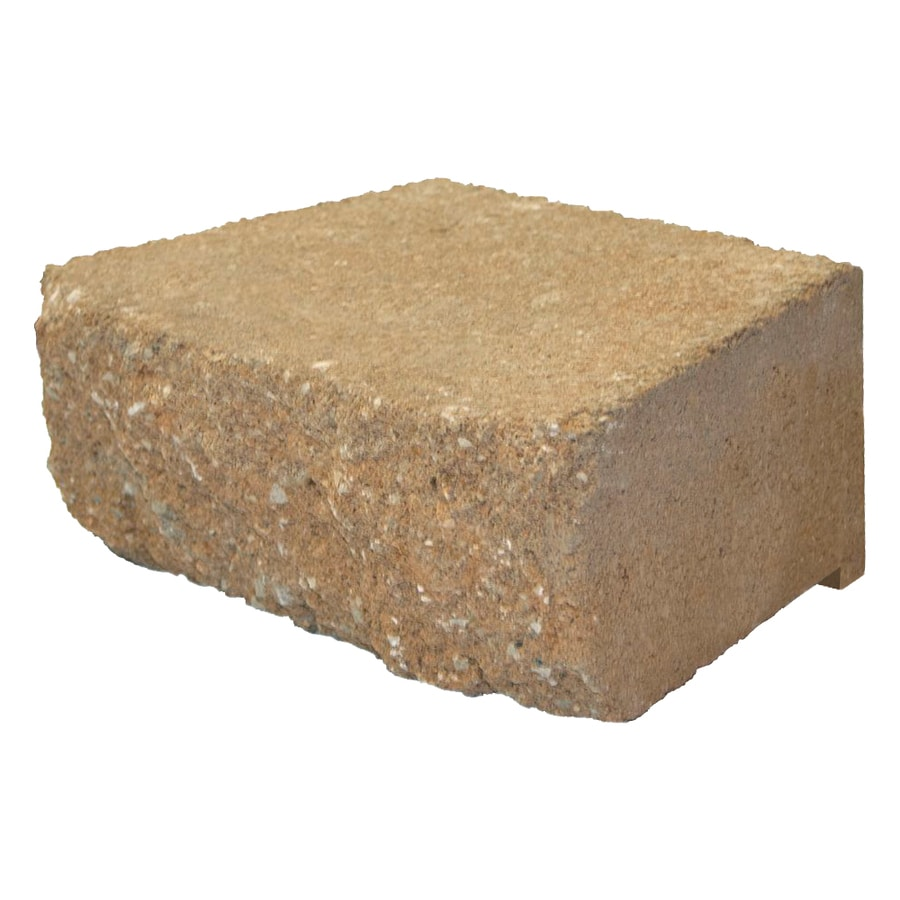 Tan Retaining Wall Block (Common: 9-in x 12-in; Actual: 9-in x 11.5-in)