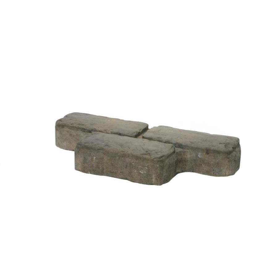 Camden Cobble Ash- Gray Blend Paver (Common: 8-in x 16-in; Actual: 8-in x 16-in)