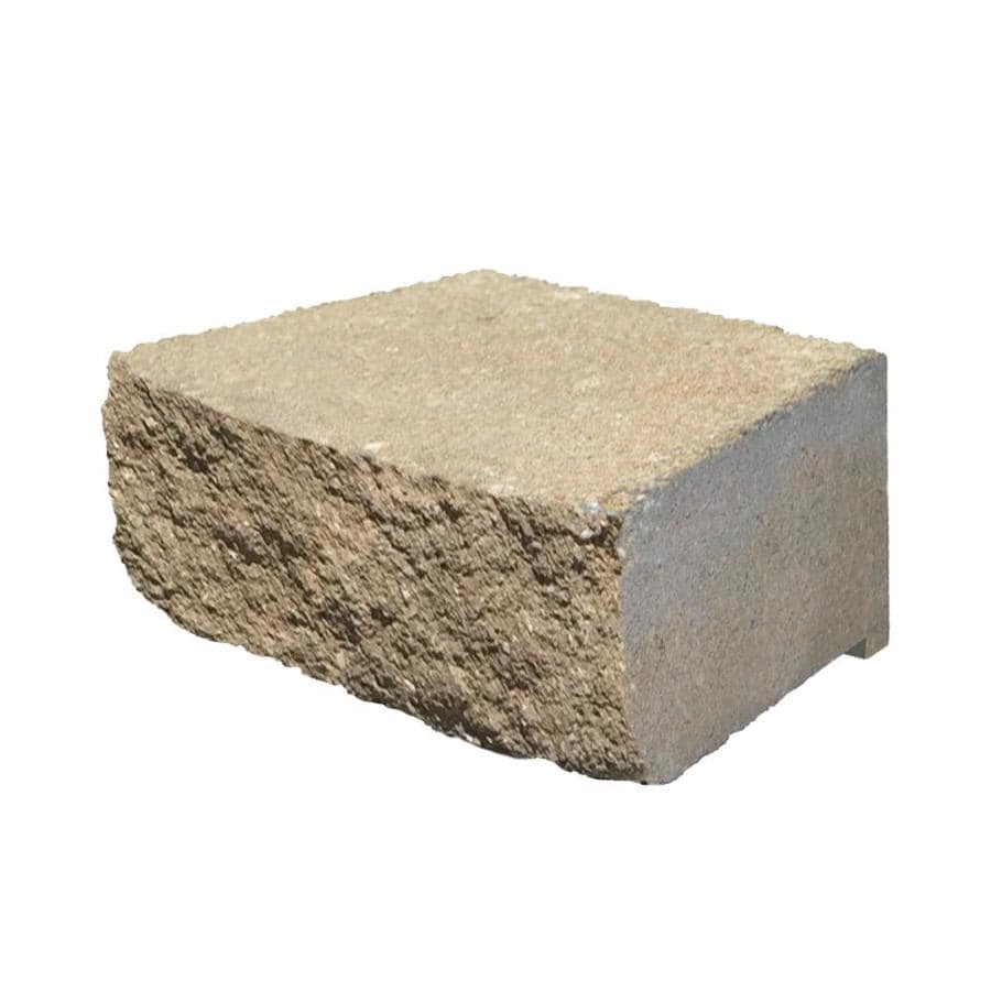 Desert Sand Retaining Wall Block (Common: 4-in x 12-in; Actual: 4-in x 11.5-in)