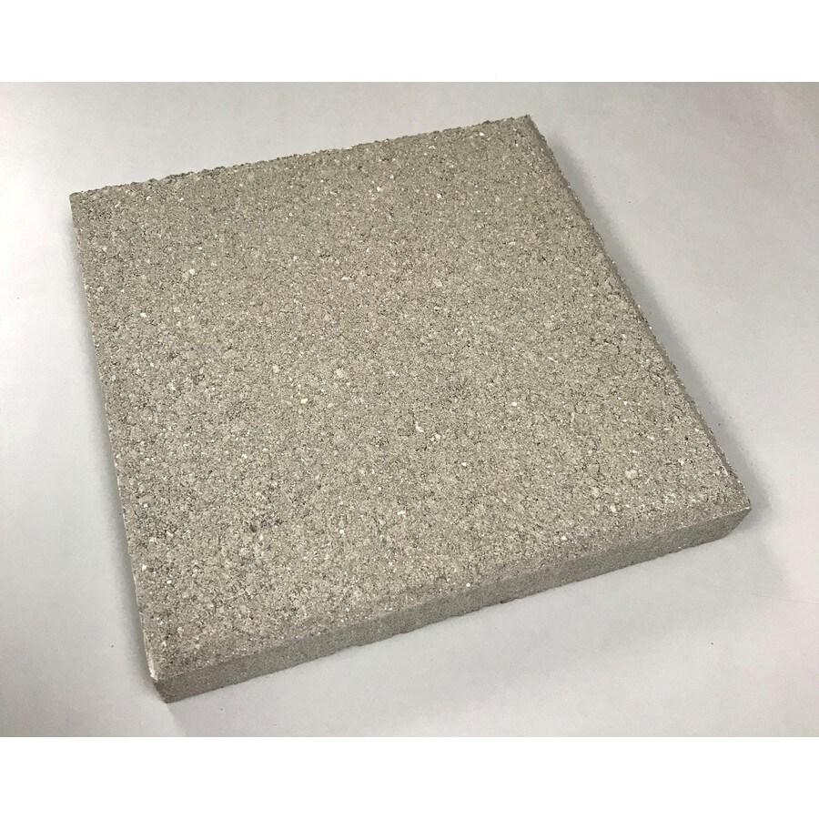 Square Gray Concrete Patio Stone Common 12 In X Actual