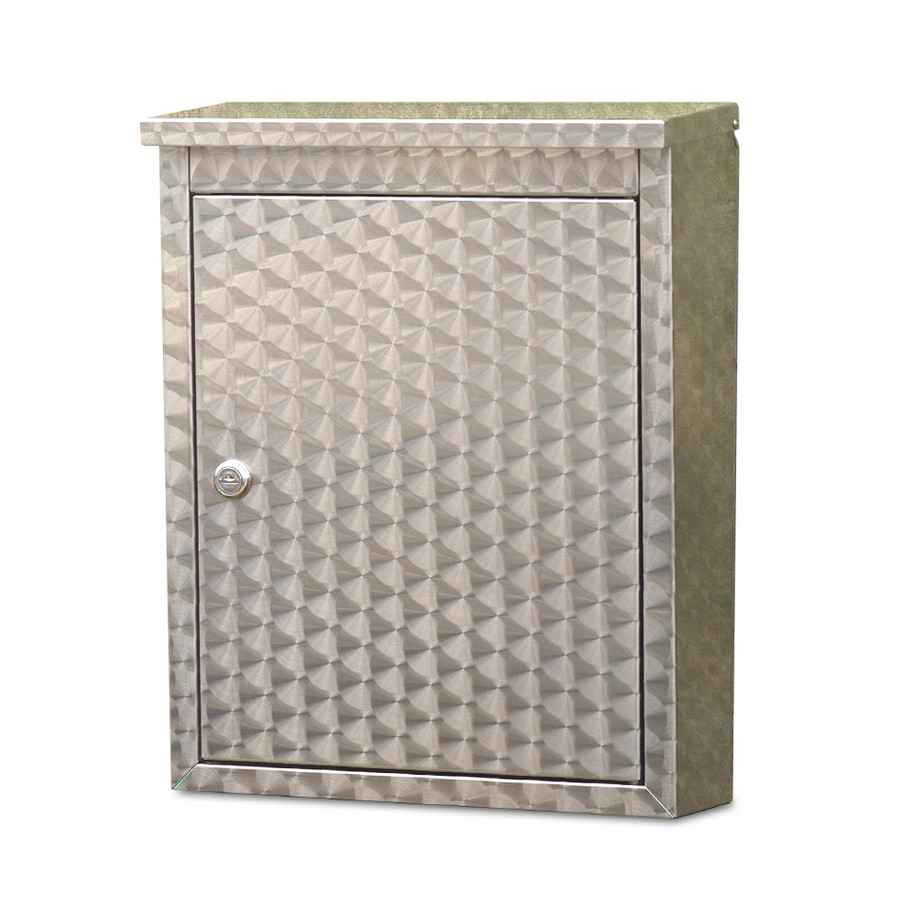 Architectural Mailboxes Metropolis 12-in x 15.5-in Metal Swirl Lockable Wall Mount Mailbox