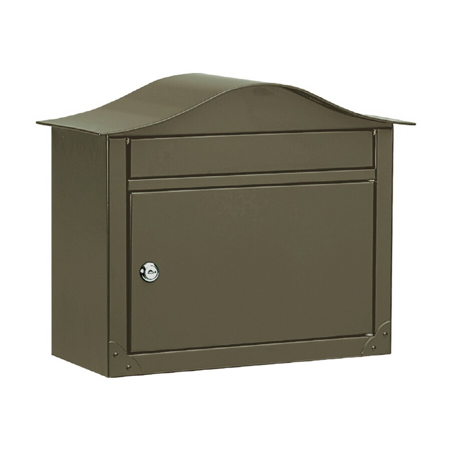 Architectural Mailboxes Lunada 16.5-in x 13.5-in Metal Bronze Lockable Wall Mount Mailbox