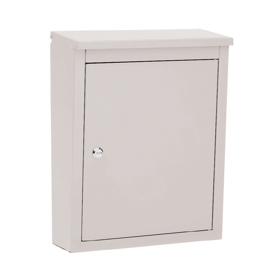 Architectural Mailboxes Soho 12-in x 15.5-in Metal Pearl Gray Lockable Wall Mount Mailbox