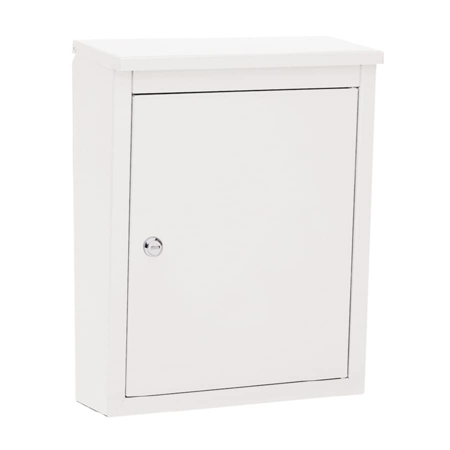 Architectural Mailboxes Soho 12.2-in x 15.6-in Metal White Lockable Wall Mount Mailbox