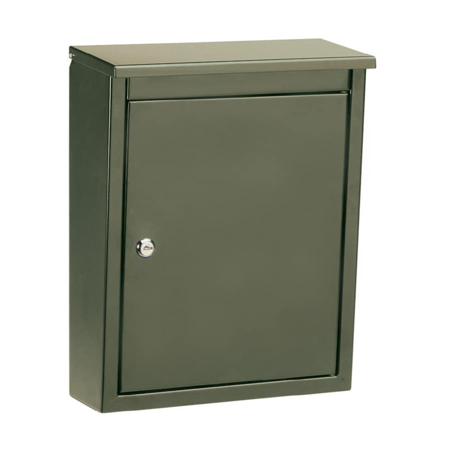 Architectural Mailboxes Soho 12-in x 15.5-in Metal Bronze Lockable Wall Mount Mailbox