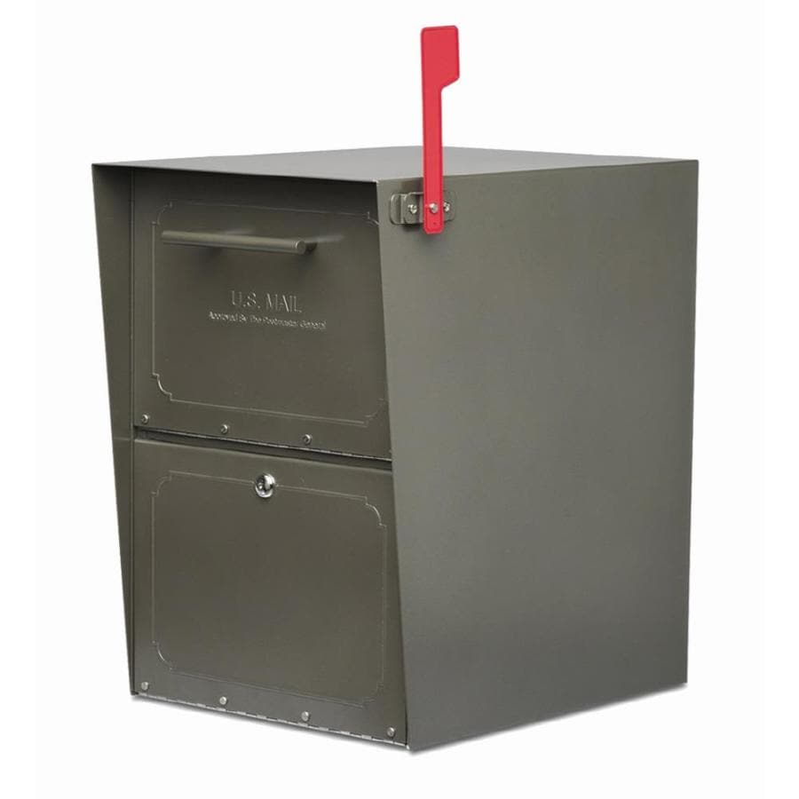 Architectural Mailboxes Oasis 13.5-in x 20-in Metal Bronze Lockable Post Mount Mailbox