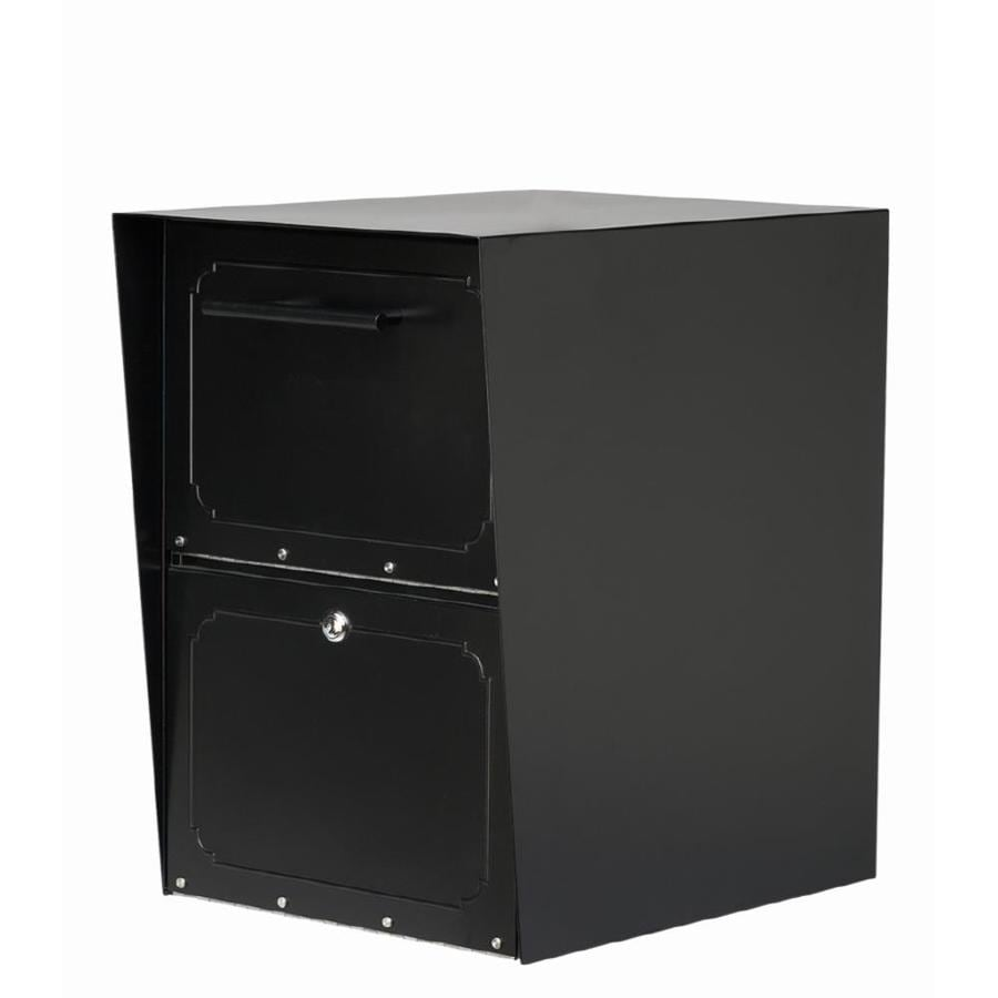 Architectural Mailboxes Oasis 13.5-in x 20-in Metal Black Lockable Post Mount Mailbox