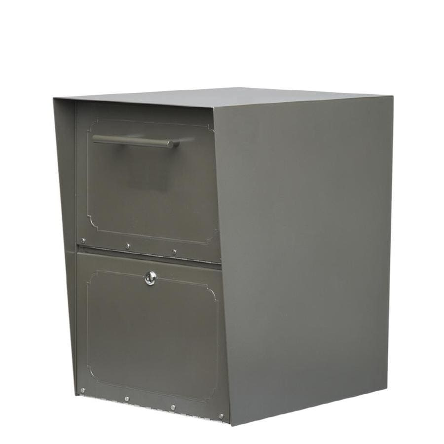 Architectural Mailboxes Oasis 14.1-in W x 20-in H Metal Bronze Lockable Post Mount Mailbox