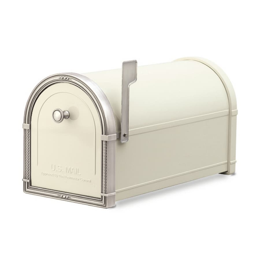 Architectural Mailboxes Coronado 10-in x 11.25-in Metal Sand Post Mount Mailbox