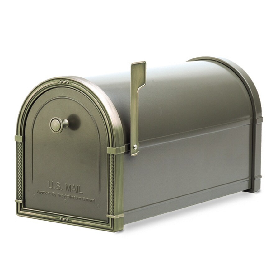 Architectural Mailboxes Coronado 10-in x 11.25-in Metal Bronze Post Mount Mailbox