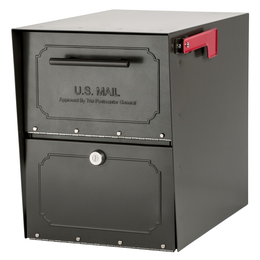 Architectural Mailboxes Oasis Jr 11.5-in x 15-in Metal Bronze Lockable Post Mount Mailbox