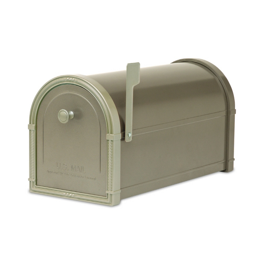 Architectural Mailboxes Bellevue 10-in x 11.25-in Metal Bronze Post Mount Mailbox