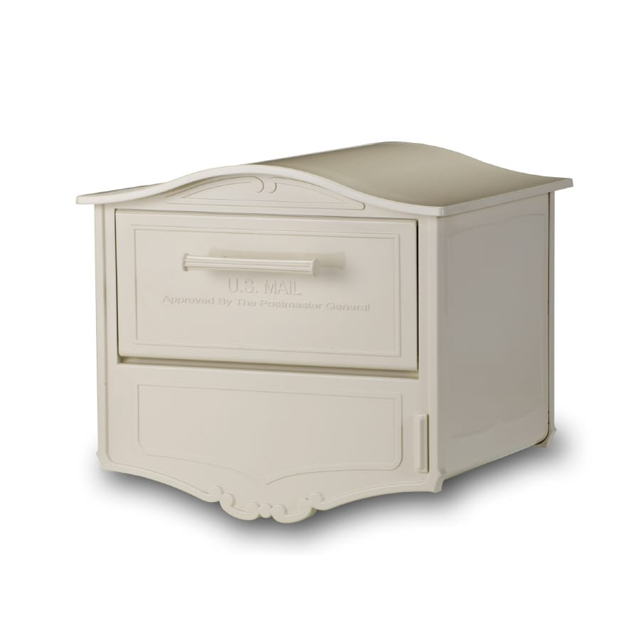 Architectural Mailboxes Geneva 16.6-in x 14.8-in Metal Sand Lockable Post Mount Mailbox