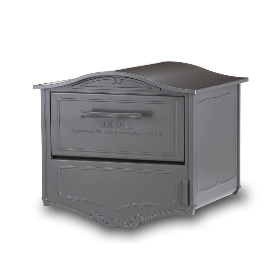 Architectural Mailboxes Geneva 16.6-in x 14.8-in Metal Bronze Lockable Post Mount Mailbox