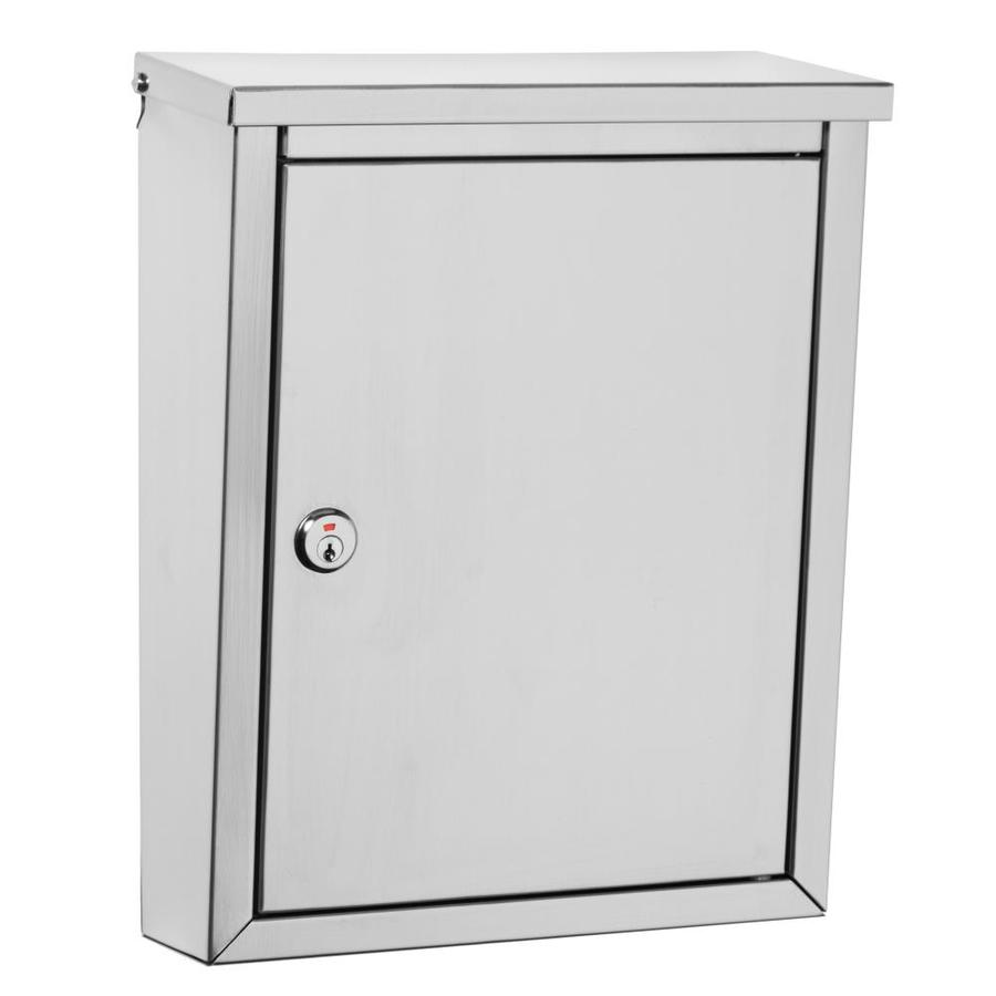 Architectural Mailboxes Regent 10.1-in x 13.2-in Metal Stainless Steel Lockable Wall Mount Mailbox