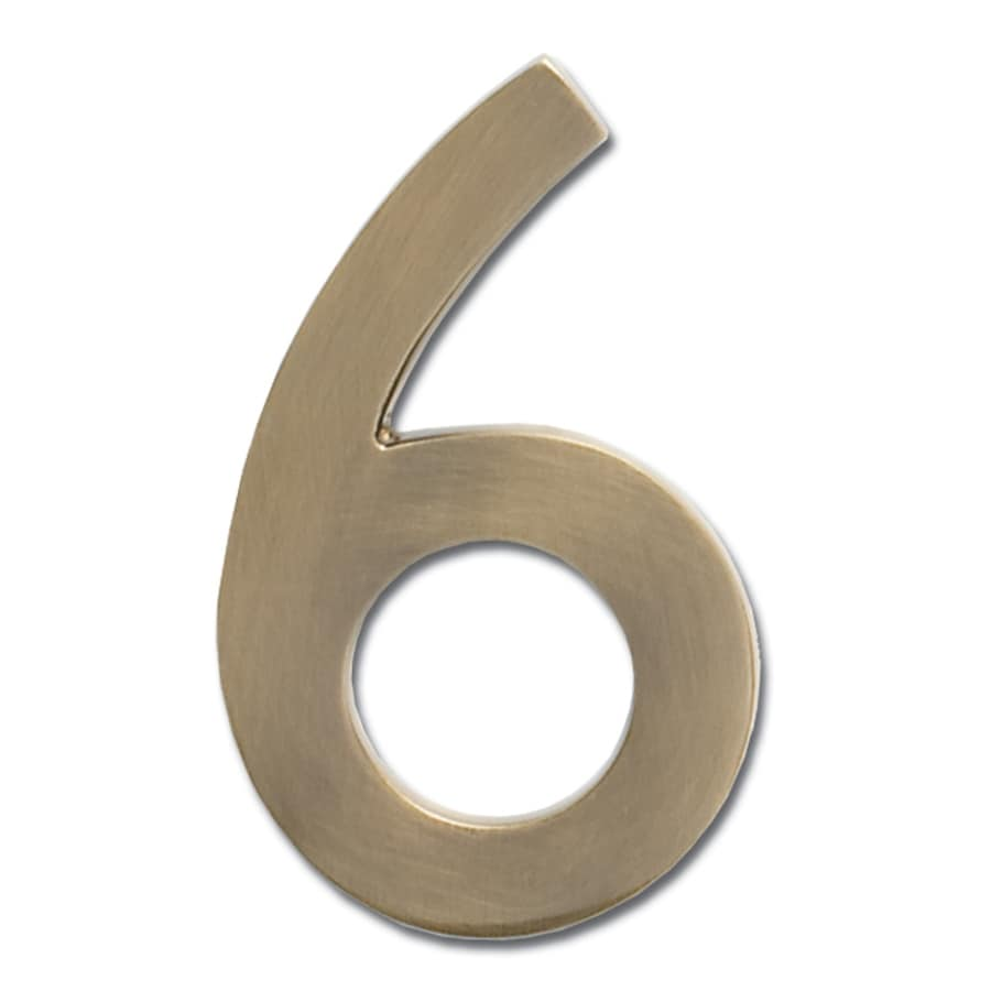 Architectural Mailboxes 4-in Antique Brass House Number 6
