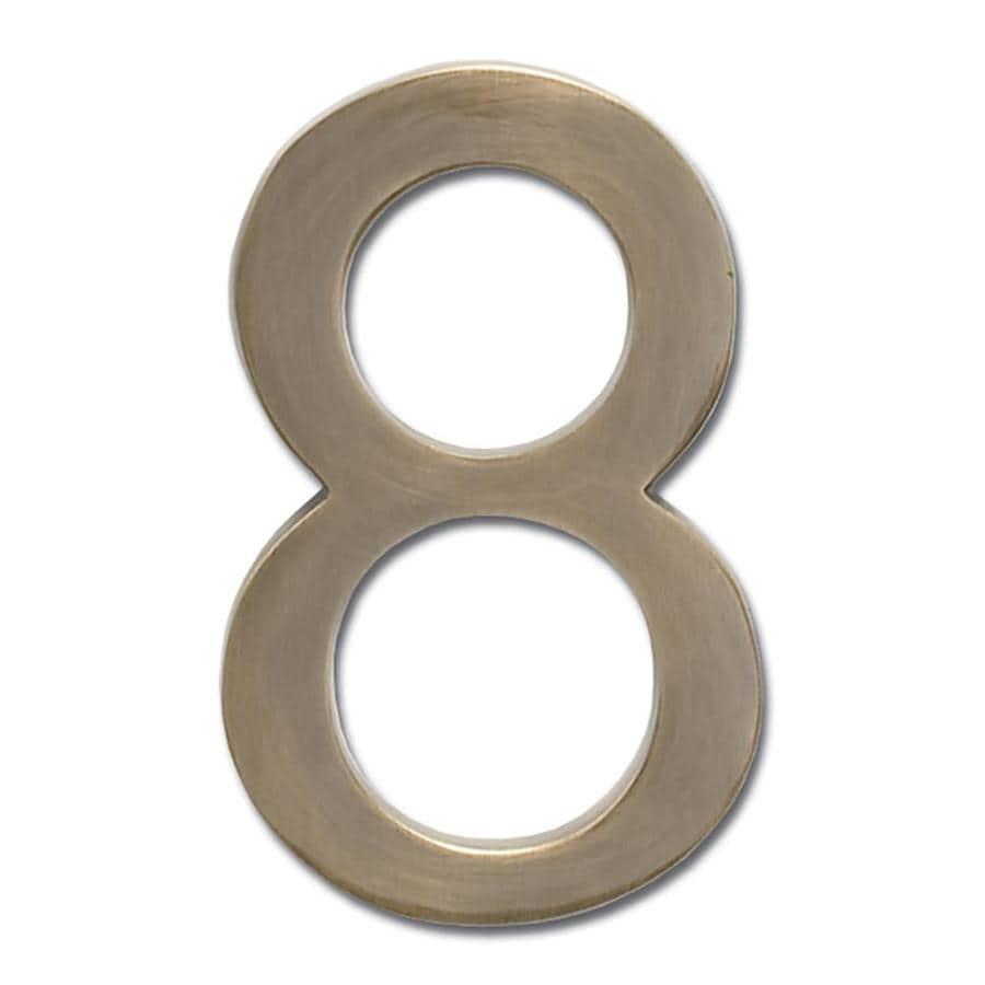 Architectural Mailboxes 3.9-in Antique Brass House Number 8