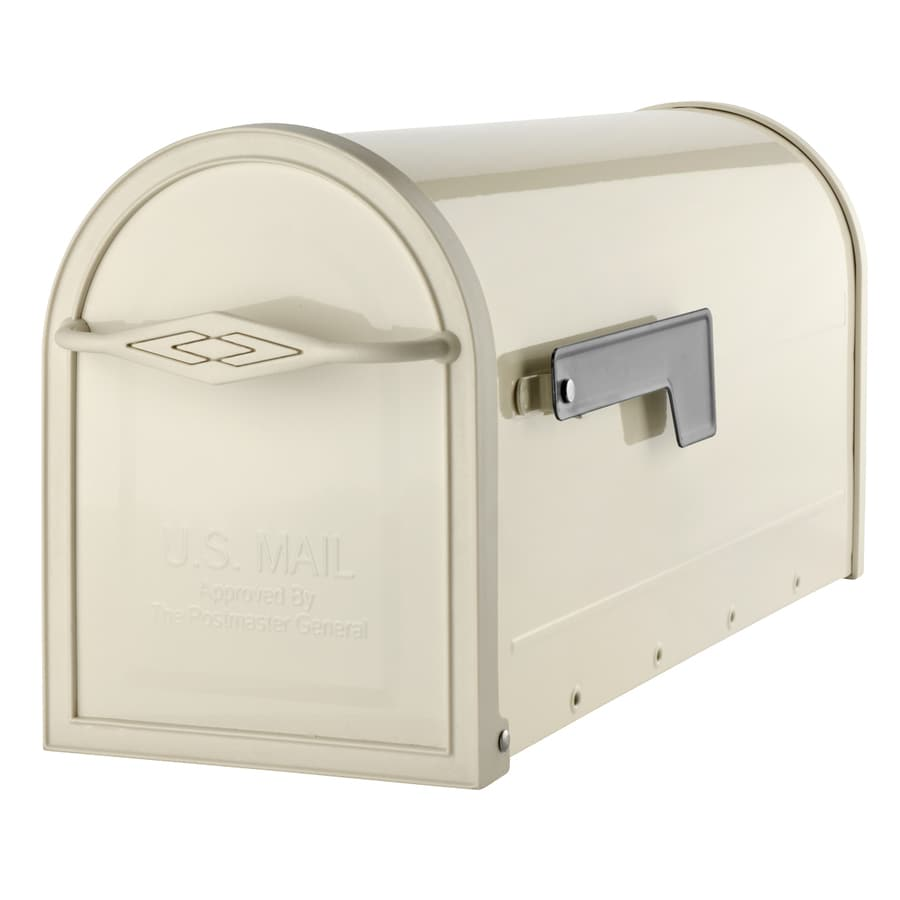 Architectural Mailboxes 6-5/8-in x 8-3/4-in Metal Sand Post Mount Mailbox