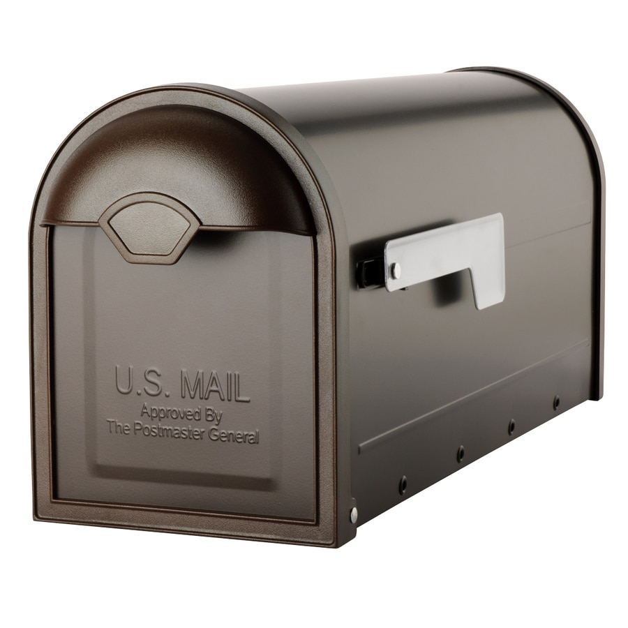 Architectural Mailboxes Winston 6.6-in x 8.8-in Metal Oil-Rubbed Bronze Post Mount Mailbox