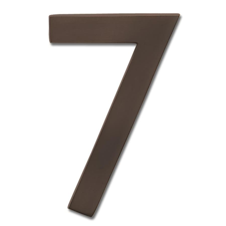 Architectural Mailboxes 5-in Aged Copper House Number #7