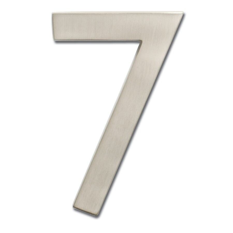 Architectural Mailboxes 5-in Satin Nickel House Number #7