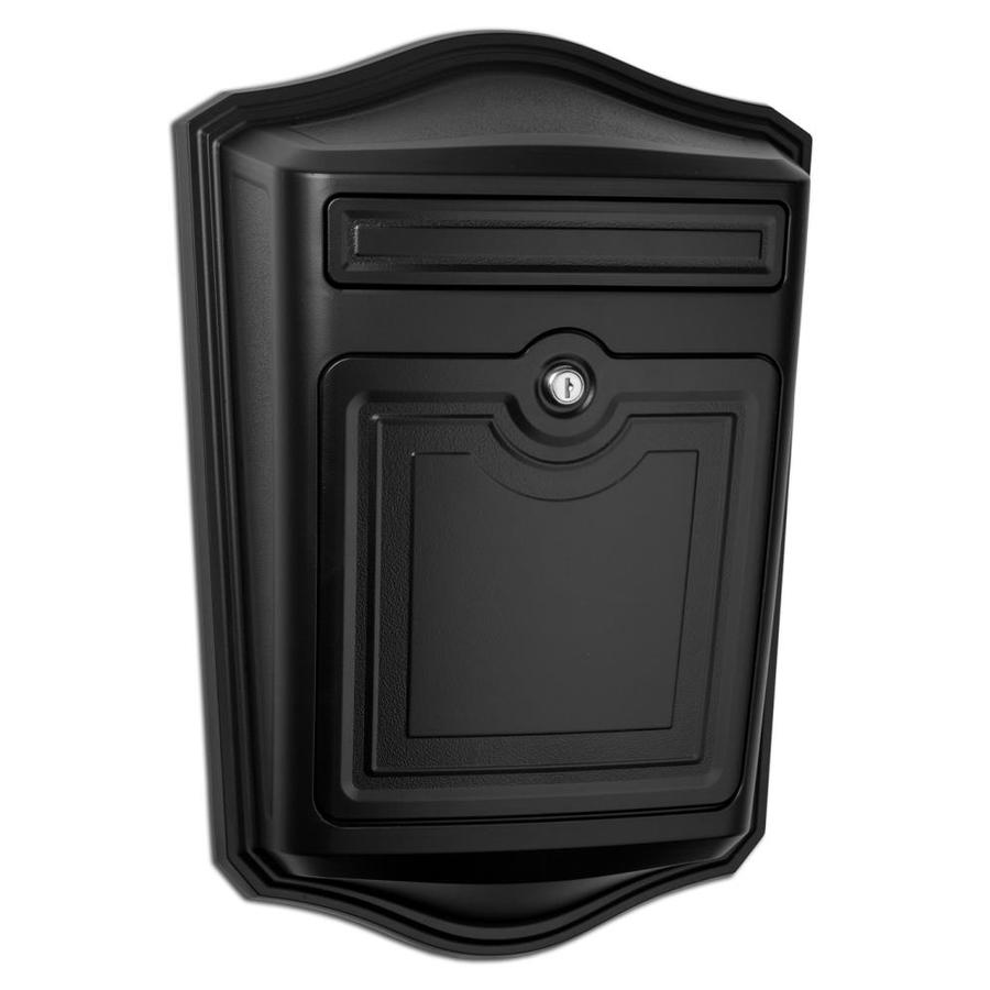 Architectural Mailboxes Maison 13.9-in x 19.4-in Metal Black Lockable Wall Mount Mailbox