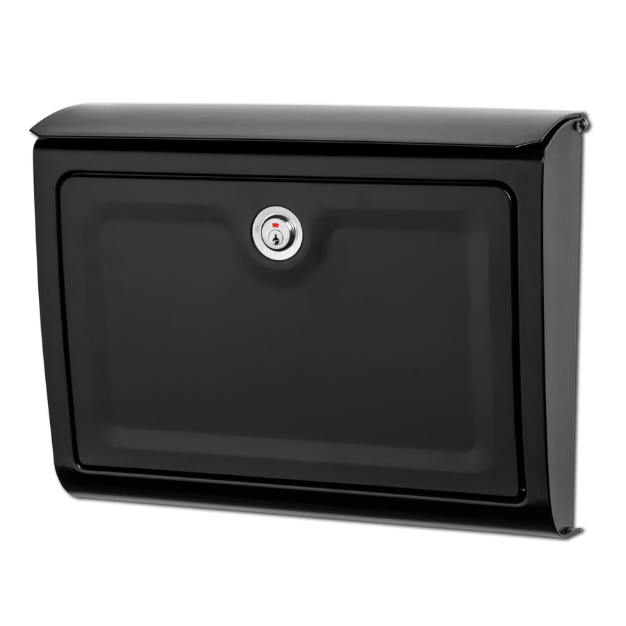 Architectural Mailboxes Whitman 14-in x 10.7-in Metal Black Lockable Wall Mount Mailbox