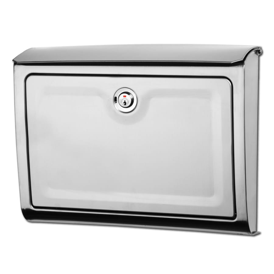 Architectural Mailboxes Avenue 14-in x 10.7-in Metal Stainless Steel Lockable Wall Mount Mailbox